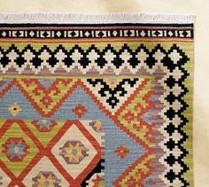 Kilim Rugs, Kilim Pillows, Living Room Rugs, Living Spaces, Oriental Rugs, Pottery  Barn, Guest Room, Red Carpets, Family Room