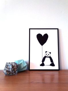 This wonderful wall print. | 22 Adorable Things You Need If You Love Pandas