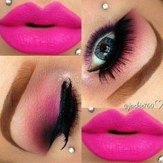 Rosa claro, rosa palo, dorado, negro... mas blanco.... labios rosas..