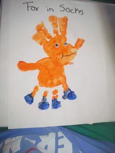 Fox in Socks handrpint