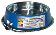 Farm Innovators Model Heated Pet Bowl with Stainless Steel Bowl Insert, Blue, > More infor at the link of image : Dog bowls Elevated Dog Bowls, Cord Protector, Dog Cages, Stainless Steel Bowl, Dog Feeder, Food Bowl, Pet Mat, Pet Bowls, Outdoor Dog