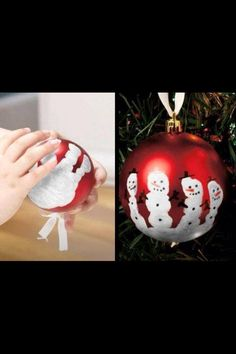 Cute and simple Christmas decorations. A cute craft to do with the kids.