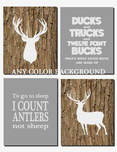 Ducks and Trucks and Eight Point Bucks Baby Boy by vtdesigns