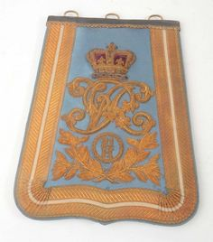 Victorian 21st Hussars Officers Ceremonial Sabretache.