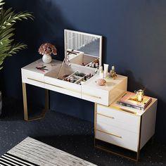 Vanity Storage, Side Cabinet, Vanity, Ikea Dressing Table, Vanity Table, Modern Vanity, Dressing Table, Dressing Table With Drawers, Black Makeup Vanity