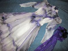 Victorian Day of the Dead corpse bride wedding dress COSTUME Mardi Gras gothic   #Handmade #vintageDress #Halloween