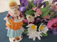 Vintage Peasant Women Figurine Marked Occupy Japan by BitofHope, $8.50