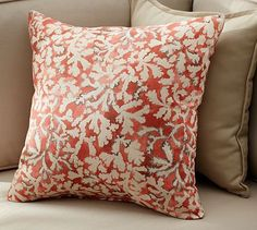 Coastal Coral Indoor/Outdoor Pillow #potterybarn