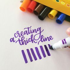 How to create lettering strokes by using a Crayola marker!