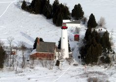 St. Helena Island Lighthouse - Address: St. Ignace, MI 49781 - The buildings of the St. Helena Island Light complex are the sole surviving structures on St. Helena Island, in Mackinac County in the U.S. state of Michigan. 12-20-2014