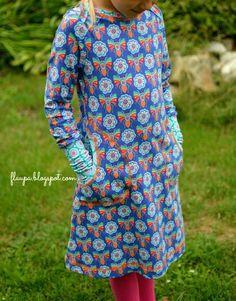 lillesol & pelle Schnittmuster / sewing pattern: Kleid mit amerikanischem Ausschnitt / Dress