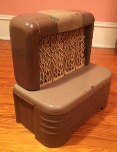 vintage art deco martin lp gas space heater tulip pattern ceramic grates bricks - Propane Space Heater