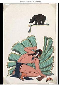 Navajo Hunter n.d. Painting BY Tahoma, Quincy