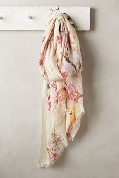 Anthropologie Beaded Branches Scarf