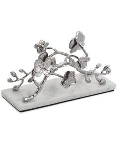 Michael Aram White Orchid Vertical Napkin Holder - Silver