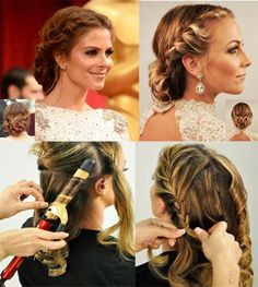 HOW TO: Recreate Maria Menounos' Grecian goddess braids with Lorena Garcia, featuring products by Farouk. http://www.modernsalon.com/hair-photos/how-to/hair-styling-updos/HOW-TO--248434551.html