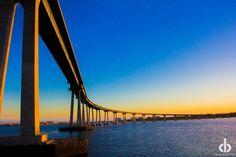 The Coronado Bridge shot from a boat by Chris Brake Photography