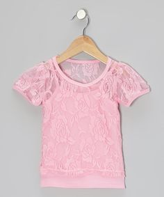 Another great find on #zulily! Pink Camisole & Lace Short-Sleeve Tee - Toddler & Girls by Share n' Smiles #zulilyfinds