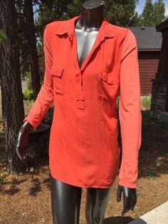 Splendid Large Coral Casual Sheer Tunic Top Rayon Cotton Blend Anthropolgie Mint   eBay