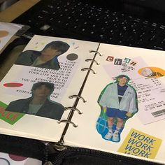 Bullet Journal Aesthetic, Bullet Journal Inspo, Bullet Journal Ideas Pages, Bullet Journal Layout, Binder Covers, Journal Covers, Cute Journals, Cute Stationary, Study Journal