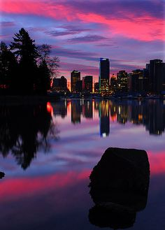 """""""Sunrise Symphony"""" by Surreal McCoy #vancouver #downtown"""