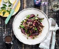 Beef and beet comes to life in this tasty stir fry with the help of salty, intensely flavoursome black bean and garlic sauce. Stir Fry Greens, Steak Stir Fry, Toasted Pumpkin Seeds, Beef Recipes, Savoury Recipes, Fresh Ginger, Budget Meals, Beets, The Help