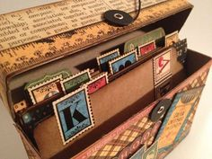 Altered boxes could store postcards, facsimile letters, service documents etc - as if it was fireman's personal filing system?