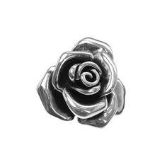Sterling silver rose pendant & brooch