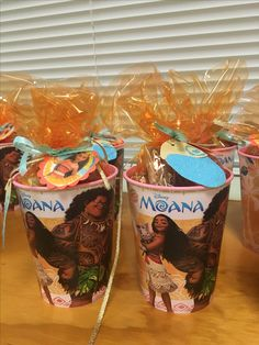 Moana party favor.