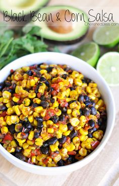 Warm Black Bean and Corn Salsa - Great on a Taco Salad!