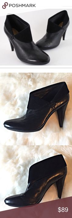 "Coach Annika Black Leather Heeled Ankle booties Gorgeous soft leather and suede ankle booties by Coach. Featuring a 4"" heel, these booties are in excellent condition. Size 9.5B - no signs of wear. Coach Shoes Ankle Boots & Booties"