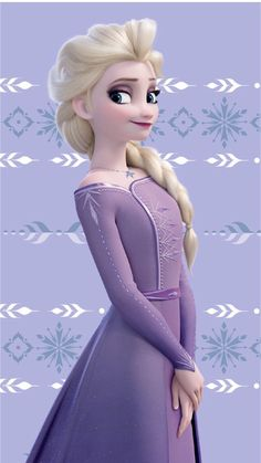Elsa in her new and beautiful lilac purple dress from Frozen 2 Frozen Disney, Elsa Frozen, Princesa Disney Frozen, Frozen Art, Frozen Movie, Frozen Cartoon, Elsa 2, Frozen Dress, Disney Princess Pictures
