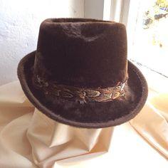 Vintage brushed felt hat  traditional gentlemans Moss Bros of