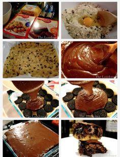 Cookie Dough Oero Brownies