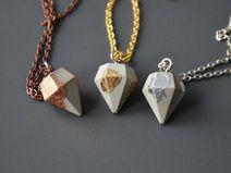 Freundschafts-Trio Diamant Beton Ketten