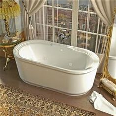 Venzi PietraStone 32 X 62 Man Made Stone Freestanding Bathtub With Center  Drain