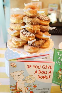 give a dog a donut book with donuts for baby shower