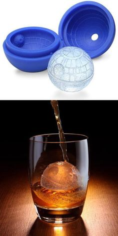 Death Star ice cubes!   How kick ass would this be in your whisky?