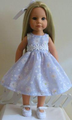 "fresh as a daisy dress hair slide 18"" Dolls Designafriend/Gotz hannah"