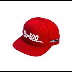 SnapBack Hat by: Social Illness~ So-ill-script-snapback-hat-red-white Social Illness Other