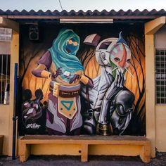 """703 curtidas, 3 comentários - Arte Sem Fronteiras (@artesemfronteiras) no Instagram: """"Artwork (mural) by FITE (Michel Japs / Will Ferrei) in Brazil Instagram : @fiteart (@micheljaps…"""""""