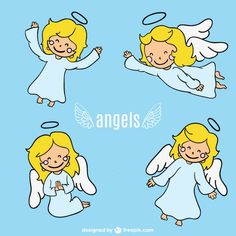 Angel cartoon character design