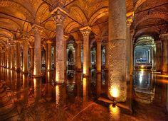 Basilica Cistern, Istanbul, Turkey.  Photograph by Clint Koehler.