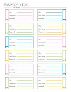 Password Log Box Format, PDF Planner, websites password log for shopping and budget or bill paymen Budget Planner, Life Planner, Weekly Planner, Happy Planner, Teacher Planner, Planner Sheets, Planner Pages, Planner Template, Printable Planner