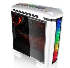 Tecnoneo: Esta caja de PC está equipada con detalles futuristas y coloridas luces LED