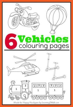 6 FREE, PRINTABLE Vehicles Coloring Pages - Great for kids who love vehicles but don't actually love colouring - Happy Hooligans