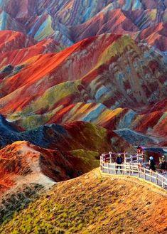 Montañas de Danxia. China.