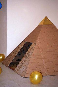 Egyptian pyramid craft for kids - preschooler arts & craft activities - Egypt Ancient Egypt, Ancient History, Bastet, Egypt Crafts, Egyptian Party, Thinking Day, Cardboard Crafts, Ancient Civilizations, Projects