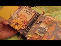 ▶ Scrapbooking Beautiful Mini Album from Velma (PT2) .m4v - YouTube