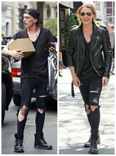 Jamie Campbell Bower in NYC, May 2014- he's so hot I swear